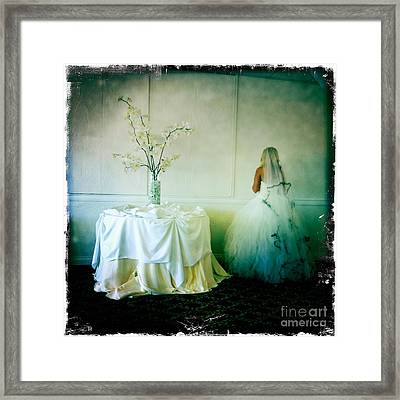 The Bride Takes A Moment Framed Print by Nina Prommer