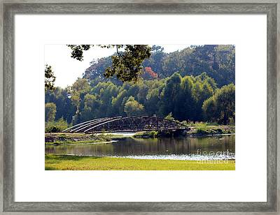 Framed Print featuring the photograph The Bridge by Kathy  White