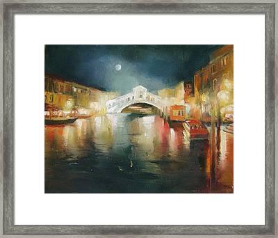 The Bridge Framed Print by Nelya Shenklyarska