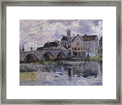 The Bridge Of Moret Sur Loing Framed Print by Claude Monet