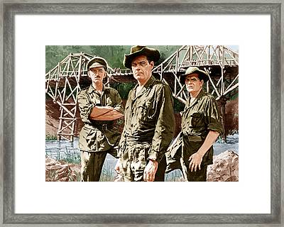 The Bridge On The River Kwai, From Left Framed Print by Everett