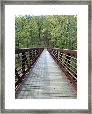 The Bridge That Divides Framed Print