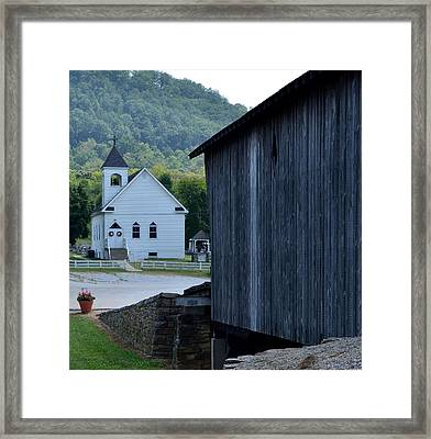 The Bridge To Salvation Is Covered Framed Print