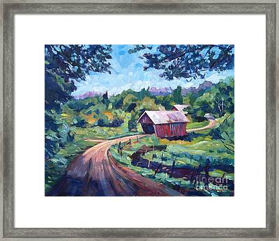 The Bridges Of East Randolph Vermont Framed Print by David Lloyd Glover