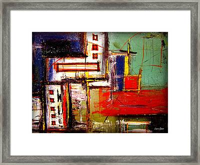 The Bridges Vii By Laura Gomez Framed Print by Laura  Gomez
