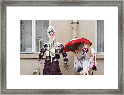 The Bright Ridiculous Dolls Similar To People. Framed Print by Aleksandr Volkov