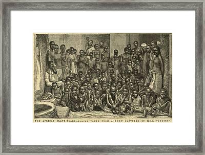 The British Navy Intercepted Slave Framed Print by Everett