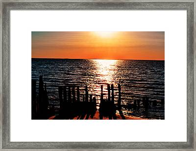 Framed Print featuring the photograph The Broken Pier by Kelly Reber