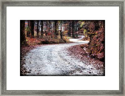 Framed Print featuring the photograph The Broken Road by Lynne Jenkins