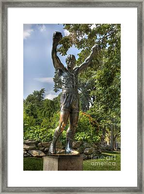 The Bronze Stallion II - Rocky Balboa - Philadelphia - Pennsylvania - Rocky Steps Framed Print