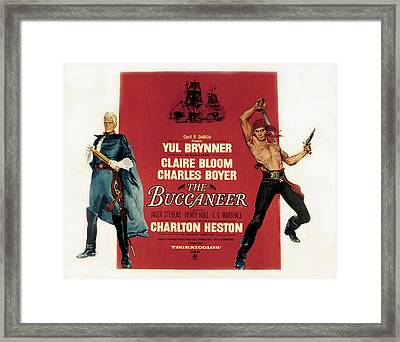 The Buccaneer, Charlton Heston, Yul Framed Print