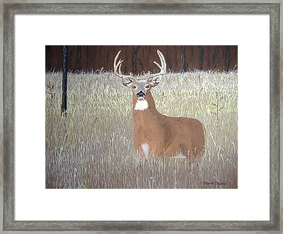 Framed Print featuring the painting The Buck Stops Here by Norm Starks