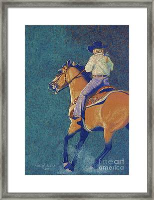 The Buckskin Framed Print