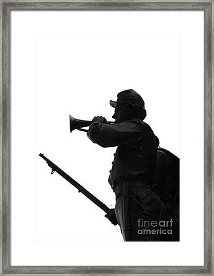 Framed Print featuring the photograph The Bugler by Cindy Manero