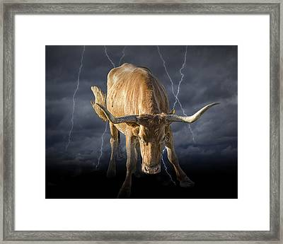 The Bull A Symbol Of The Bull Market Framed Print