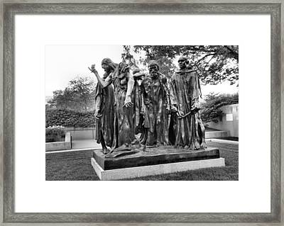 The Burghers Of Calais Framed Print by Steven Ainsworth
