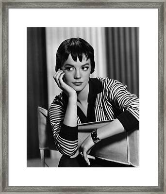 The Burning Hills, Natalie Wood, 1956 Framed Print