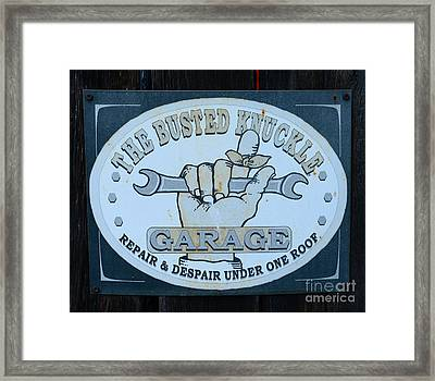 The Busted Knuckle Framed Print by Paul Ward
