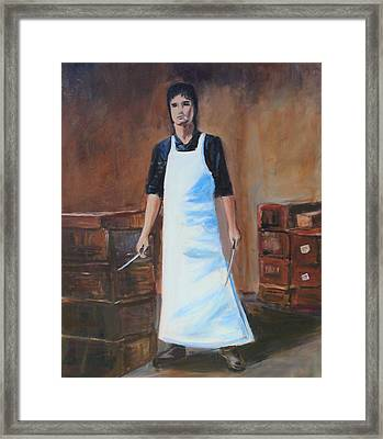 The Butcher Framed Print