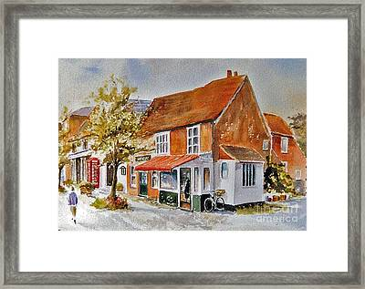 Framed Print featuring the painting The Butcher Shop Lenham by Beatrice Cloake