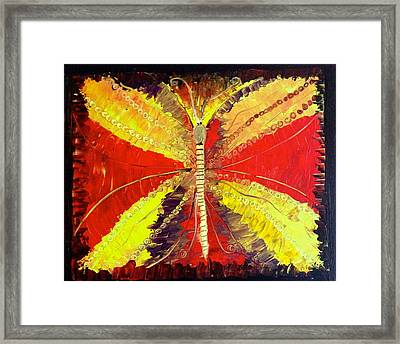The Butterfly Framed Print by Pretchill Smith