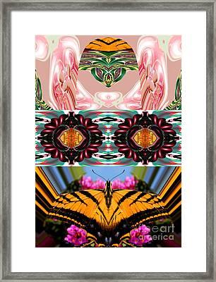 The Butterfly Skull Framed Print