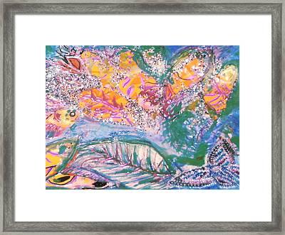 The Butterfly's Dream Framed Print by Anne-Elizabeth Whiteway