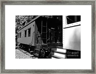 The Caboose Framed Print by Thomas R Fletcher