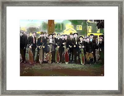 The Caddies Framed Print
