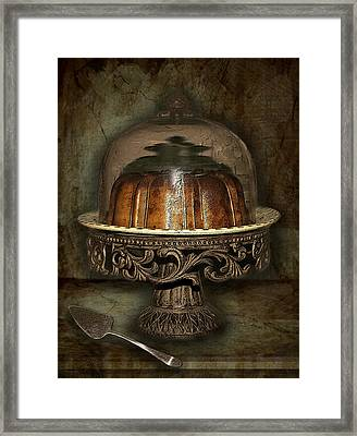 The Cake Plate Framed Print