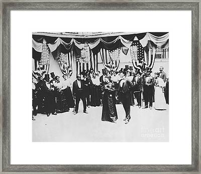 The Cakewalk Framed Print by Photo Researchers