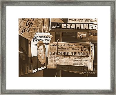 The California New Deal Framed Print by Padre Art