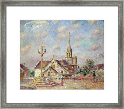 The Calvary At Pont Aven Framed Print by Pierre Auguste Renoir