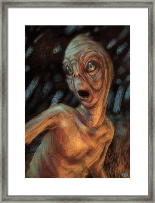 The Campfire Visitor Framed Print by Ethan Harris