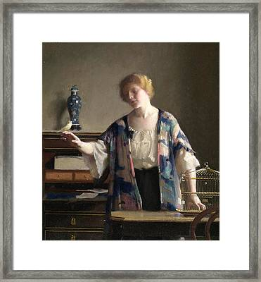 The Canary Framed Print by William McGregor Paxton