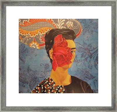The Cancerous Rose Framed Print by Kanchan Mahon