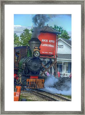 The Cannonball Express Framed Print by Janice Adomeit