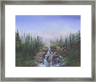 The Canoeist Concern Framed Print by Kent Nicklin