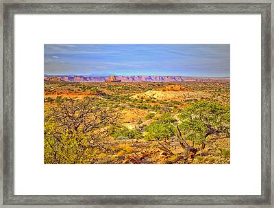 The Canyon In The Distance Framed Print