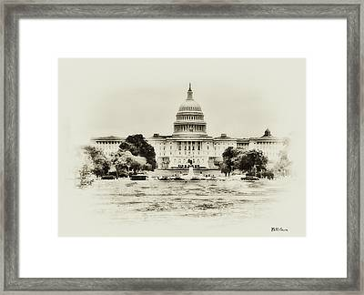 The Capital Bulding Framed Print by Bill Cannon