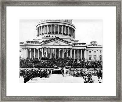The Capitol Building In Washington Framed Print by Everett