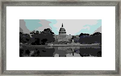 the Capitol  Framed Print by George Pedro