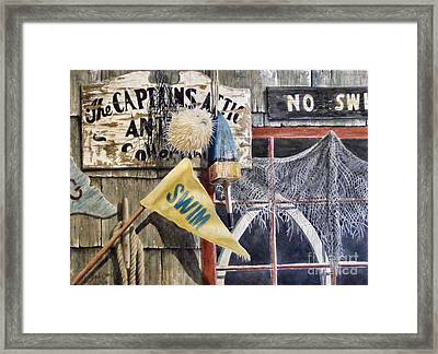 The Captains Attic Sold Framed Print
