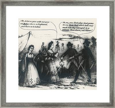 The Capture Of Jefferson Davis, 1865 Framed Print by Photo Researchers