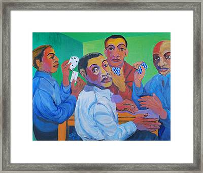 The Card Players Framed Print
