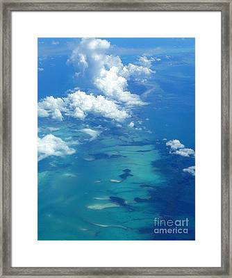 The Caribbean Sea From On High Framed Print by Anne Gordon