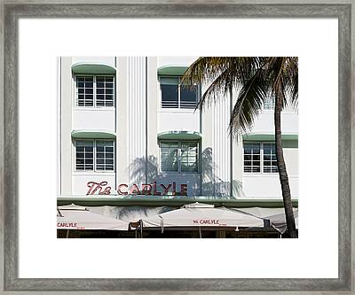 The Carlyle Hotel 2. Miami. Fl. Usa Framed Print