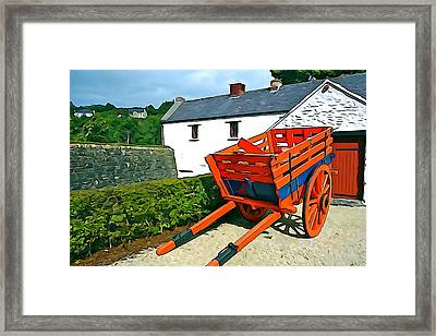 Framed Print featuring the photograph The Cart by Charlie and Norma Brock