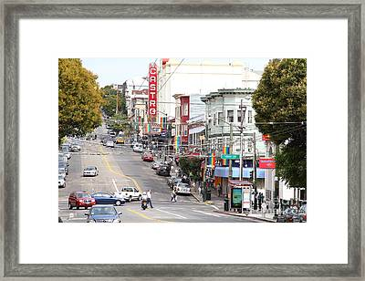 The Castro In San Francisco . 7d7567 Framed Print by Wingsdomain Art and Photography
