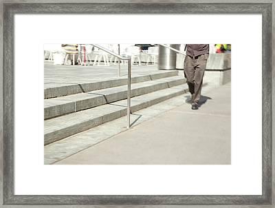 The Casual Strut Framed Print by Karol Livote